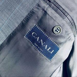 Canali Gray Pattern Mens Blazer, 44